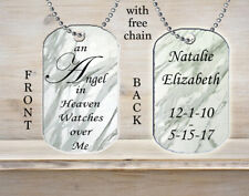 Personalized Custom Necklace Dog Tag Memorial Gift An Angel in Heaven Gift Idea