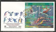 United Nation SC # Vienna 207 Sports And The Environment Souvenir S .UNPA Cachet