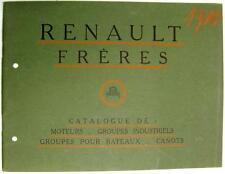 RENAULT FRERES MOTORI AERO, BARCA, FERMO OPUSCOLI 1910 francese