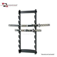 8 Tier Sword Wall Mount Display Rack by Master Cutlery WS-8W *NEW*