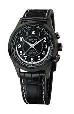 Vulcain Aviator GMT Pilot DLC Steel Men's 42mm Manual-WInd Watch 100108.332LDLC