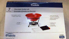 "New Trudeau Sundial Chocolate Fondue 7 Piece Set, 7.5"" dia., metal stand w/forks"