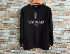 New Balmain Bronzing Logo Printing Pullover Sweater Cotton Hoodie Tops