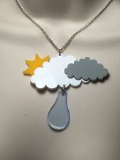 laser cut Acrylic 'WEATHER' statement necklace