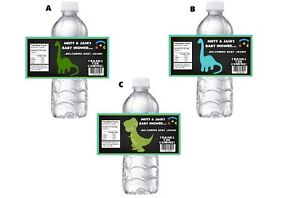 20 DINOSAUR PERSONALIZED BABY SHOWER PARTY FAVORS WATER BOTTLE LABELS WRAPPERS