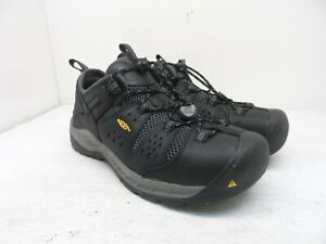 Keen Men's Atlanta Cool II Elastic Steel-Toe Casual Work Shoes Black Size 10D