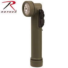 New Olive Drab RBG Multi-Color LED Mini Army Style Angle Head Flashlight 2 X AA