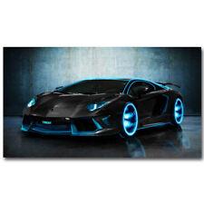 "Lamborghini Aventador Sports Cars Silk Cloth Art Poster Print 24x36"""