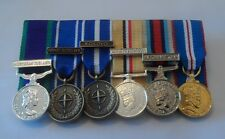Court Mounted Miniature Medals, Ireland, IFOR, KFOR, Iraq, Afghanistan, Jubilee
