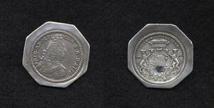 1715 Lippe-Detmold Ex.rare klippe 1/2 Taler-mintage 40