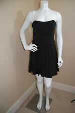 BCBG Max Azria Black Lined Gathered Strapless FABULOUS Dress~NEW~12 fit smaller