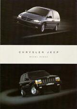 Chrysler Jeep 1996-97 UK Foldout Brochure Neon Voyager Wrangler Cherokee Grand