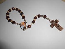 Rosenkranz Papstrosenkranz Papst-Franziskus m.Papst-Medaillon Gebetsring Neu