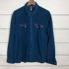 Stio Blue Fleece Shirt Jacket Size Large L Full Zip Outdoor Casual Collar Men's