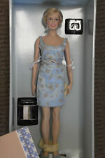 "Franklin Mint Vinyl Princess Diana Doll Princess Of Grandeur W COA 16"" LE"