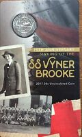 2017 RAM SS Vyner BROOKE -75th anniversary 20 cent UNC coin - in stock now!!!!!