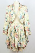 Vintage 1980's 2-piece Skirt & Jacket SUIT    UK 0-12  Floral   Wedding   006 Y