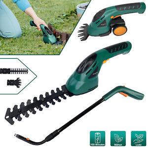 Heckenschere Akku Buchsbaumschere 2 in 1 Strauchschere Gartenpflege Grasscheren