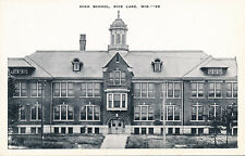 HIGH SCHOOL, RICE LAKE, WIS. WI. WISCONSIN.
