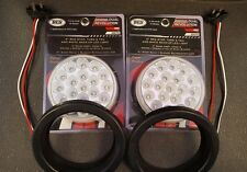 "(2) 19 LED Trux Dual Revolution 4"" Round Clear Lens Stop Tail Turn Back-Up Kit"