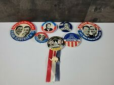 Vtg Reagan Election Campaign Pin Button SLOGANS SAYINGS Lot 7 INAUGURATION DAY