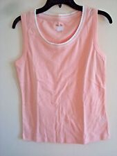 d07eeb7ef70b7 Ladies White Stag Scallop Neck Peach Tank Top Knit Size 2x (20)