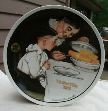 Norman Rockwell Mother's Day 1989 Plate,Knowles China,Ltd Ed.,Sunday Dinner