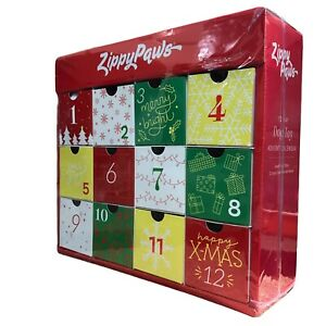 Zippy Paws Dog Toy Plush Holiday Minis Squeaky Advent Calendar 12 Toys RRP$59.99
