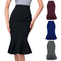 Elegant Women's Business OL Mermaid Hips-Wrapped Bodycon Fishtail Pencil Skirt