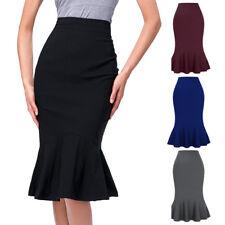 Elegant Women's Business OL Mermaid Hips-Wrapped Bodycon Fishtail Pencil Skirt
