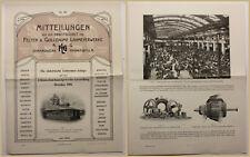 Orig Werbeblatt Mitteilungen aus dem Arbeitsgebiet Lahmeyerwerke 1906 Technik sf