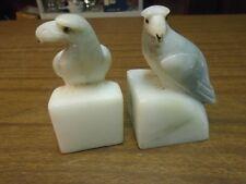 Alabaster stone Eagle  bird figural bookends