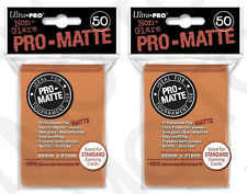 100 2pk ULTRA PRO Pro-Matte Deck Protector Card Sleeves Magic Standard Orange