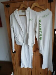 Juicy Couture Inspired White Tracksuit Loungewear Size 8  SEE DESCRIPTION