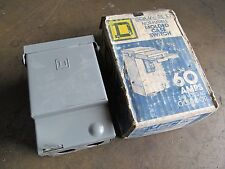 OLD STOCK! SQUARE D MOLDED CASE SWITCH 60 AMPS 240 VOLTS OUTDOOR BREAKER