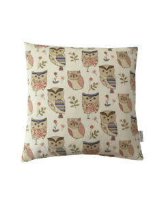 """18"""" Fryetts Hoot Owls novelty scatter cushion covers pillow sham made in UK"""