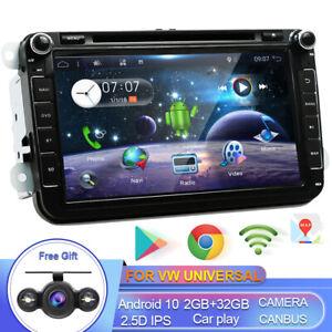 DAB+ Autoradio For VW Passat Golf Polo Skoda Android 10 Navi GPS Carplay 8 Inch