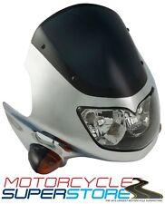 Universal Raptor 2 Motocicleta Streetfighter Faros Carenado Kit Cromado