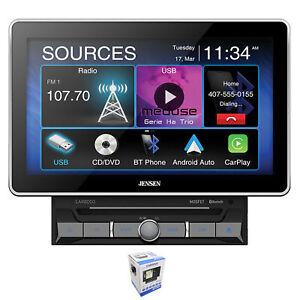 "Jensen CAR8000 10"" Touchscreen Bluetooth Apple CarPlay 2 Din Multimedia Receiver"
