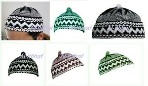 Muslim Kufi Haji Turkish Prayer Hat, Skull Cap Topi Men,s- Kid,s Woolen Bubble