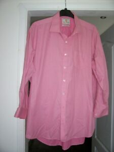 """Mans shirt size 18"""" from Brook Taverner in a pink colour"""