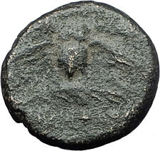 PERGAMON in MYSIA 133BC Athena OWL Authentic Genuine Ancient Greek Coin i61611