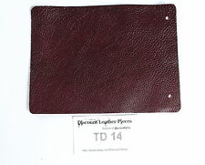 "Wine Brown Scrap Leather Craft Piece 8"" x 6"" TD14"