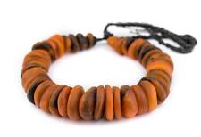 Amber Swirl Moroccan Horn Beads 25mm Morocco African Orange Disk Large Hole