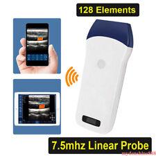 Portable Pocket Wifi Wireless Color Doppler Ultrasound Scanner Linear Probe 128e