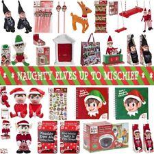 NAUGHTY ELF PROPS SWING CAMERA BUNTING BAG REINDEER DOOR CHRISTMAS DECORATION