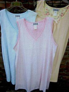 New Super Soft Sleeveless Knit Nightgowns 1X 2X 3X  Free Shipping!