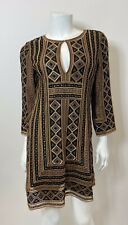 Calypso St Barth Metallic Embroidered Dress Size XS