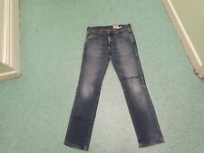 "Wrangler Greensboro Jeans Waist 32"" Leg 34"" Faded Dark Blue Mens Jeans"