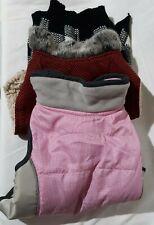 Dog Clothes Pink Jacket Sherpa Coat Black Plaid Sweater Medium Lot Of 3 Top Paw